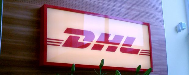 DHL internal sign