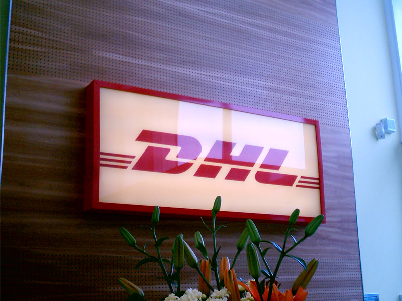 DHL internal sign