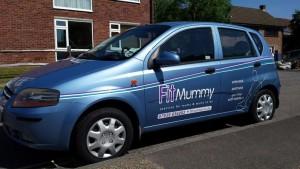 FitMummy blue car
