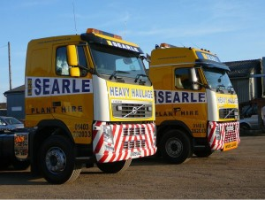 Searle construction vehicles