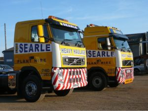 Vehicle wrapping on Searle trucks