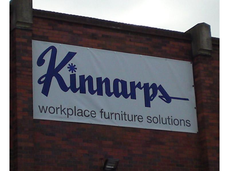 Kinnarps external branded banner