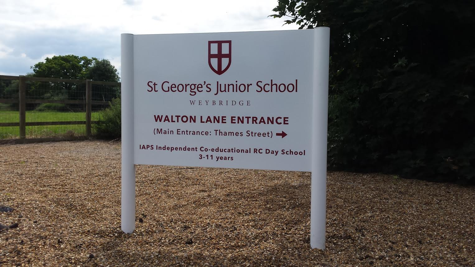 External sign at St George's Junior School