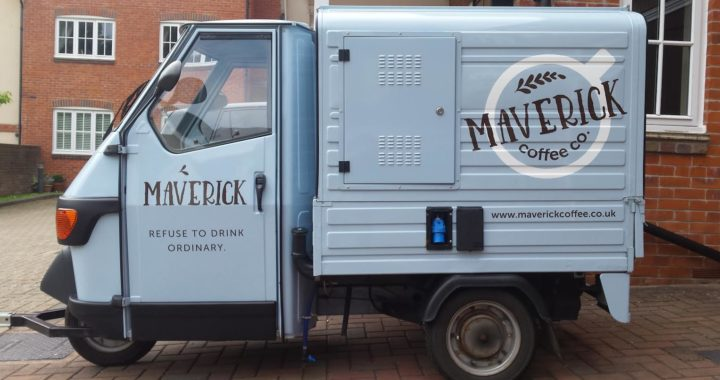 Maverick Coffee Company van signage