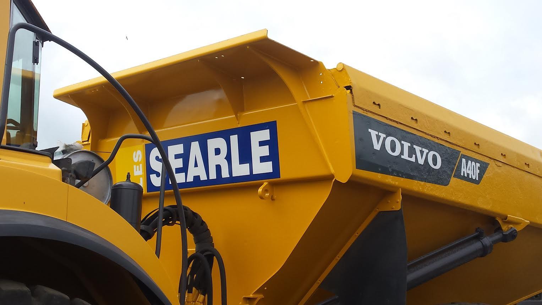 Vehicle signage on Searle machinery