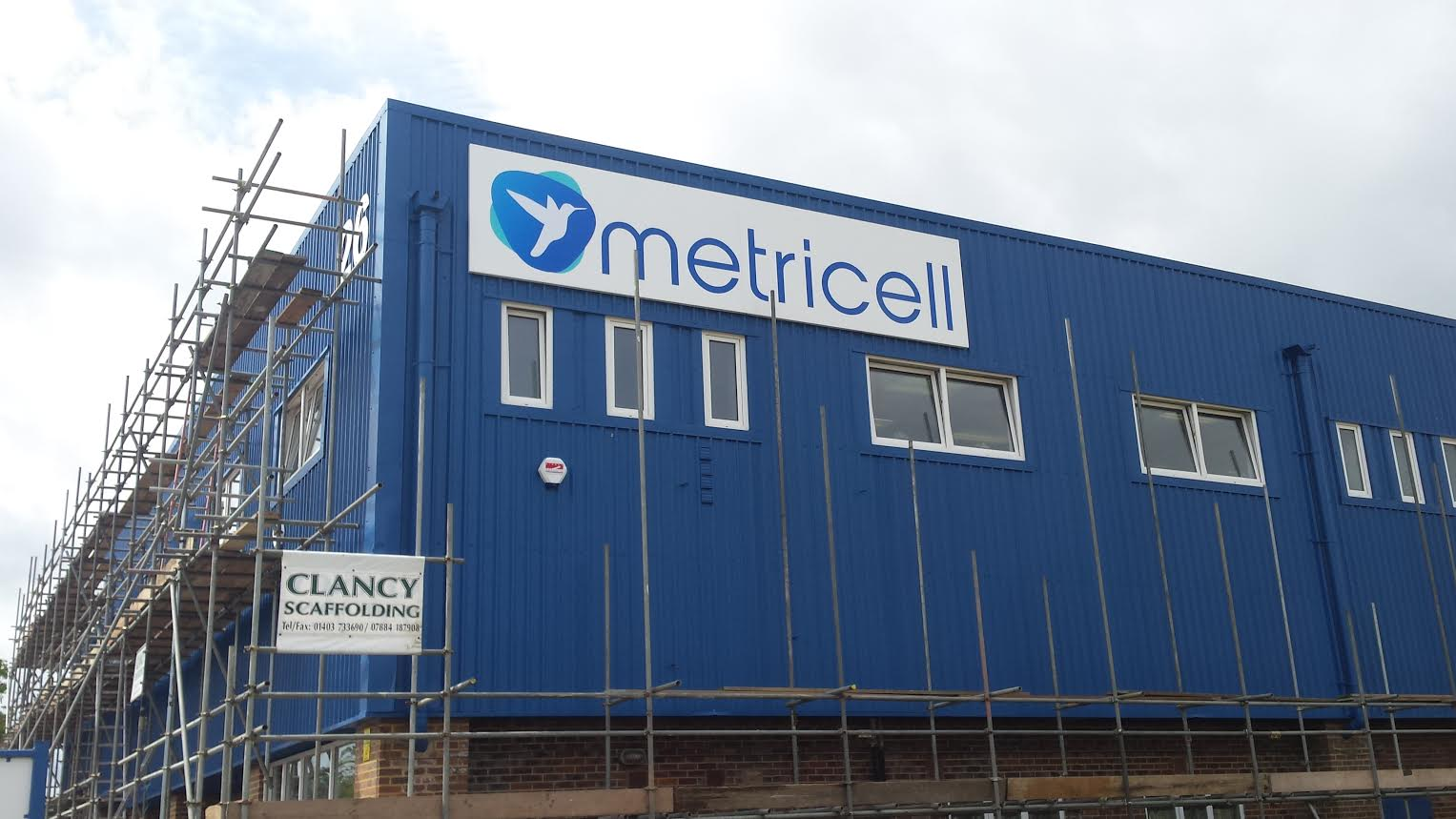 Outdoor signage of Metricell offices