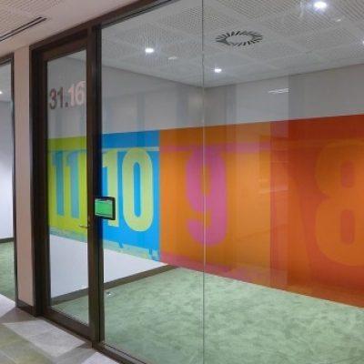 Office glass manifestation