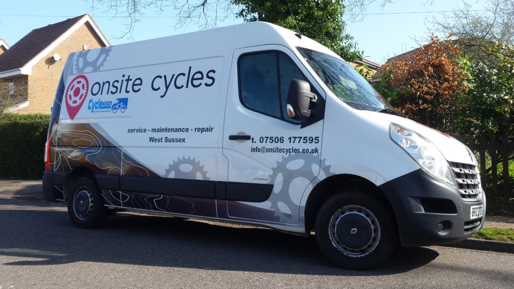 onsite cycles vehicle graphic