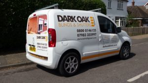 dark oak blinds and shutters vehicle