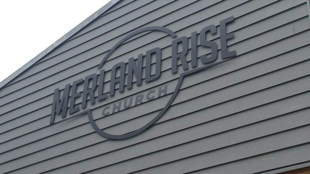 merland rise church signage