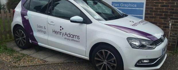 henry adams estate agents vehicle graphics
