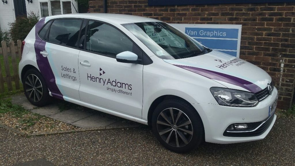 henry adams estate agents vehicle graphics