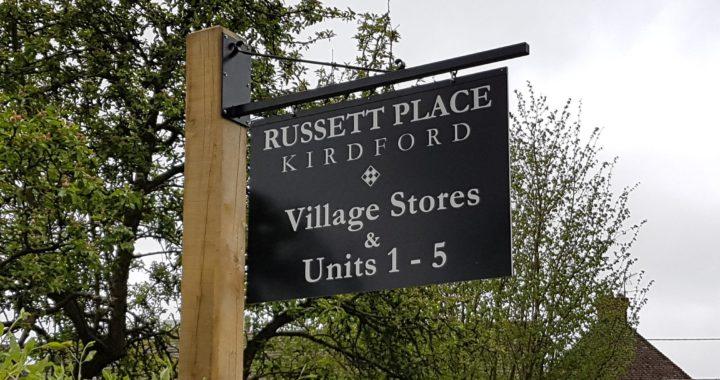 Russet place external sign