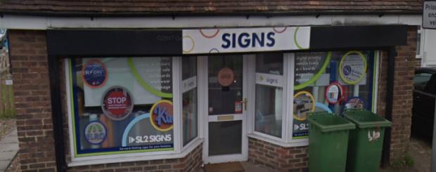sl2 signs shop front