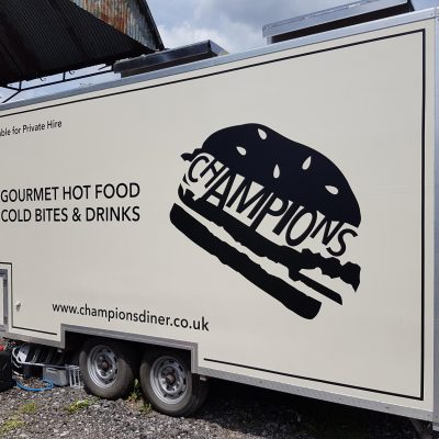 Gourmet Good and Cold Bites Trailer Graphic Sign Making | SL2 Signs