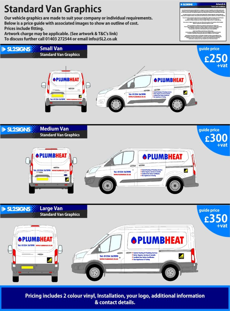 Standard van prices (1)