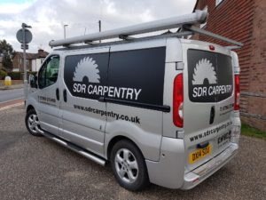 SDR Carpentry vehicle graphic