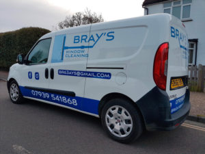 Brays window cleaning vehicle graphic