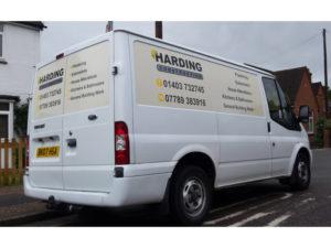 Harding construction vehicle graphic