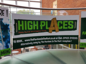 High Places indoor sign