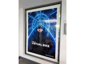Virtual Bike indoor sign