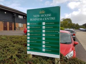 New House business centre external sign