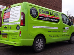 Vehicle graphics for David J Long