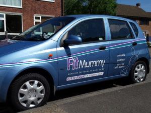 Fit mummy vehicle graphics