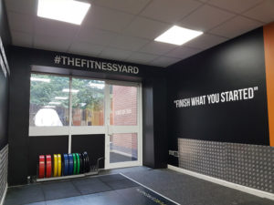 The Fitness Yard wall graphics