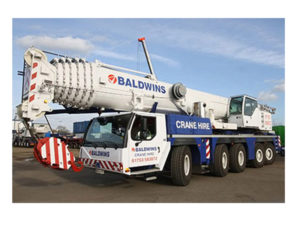 Baldwins crane hire vehicle graphics