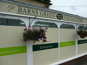 Barns Green Village Store window graphics