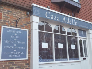 Casa Adelin window graphics and signage