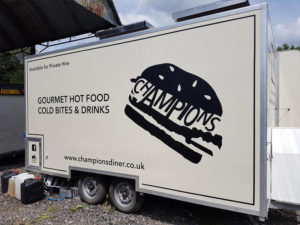 Champions gourmet hot food other vehicle graphics