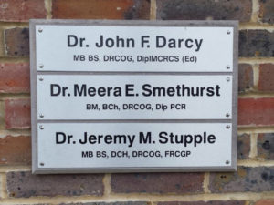 Doctors external signs