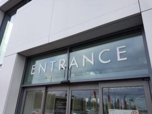 Entrance window graphics