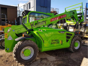 Kelsey plant hire vehicle graphic