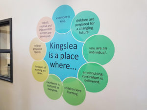 Kingslea wall graphic