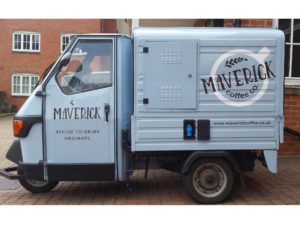 Maverick coffee machine vehicle graphics