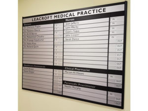 Medical Practice indoor sign