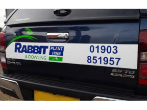 Rabbit and Dowling vehicle graphics