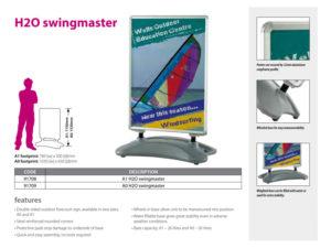 H20 swingmaster signage
