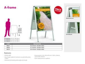 A-frame signage