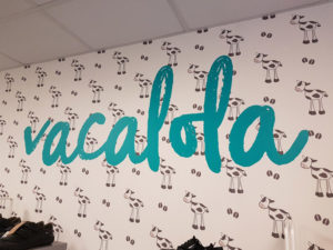 Vacalola wall graphic