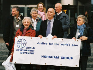 World development movement banner