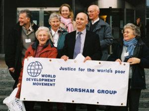 World development movement banner