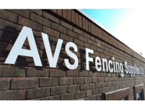 AVS fencing supplied ltd outdoor sign