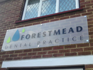 Forestmead dental practice outdoor sign