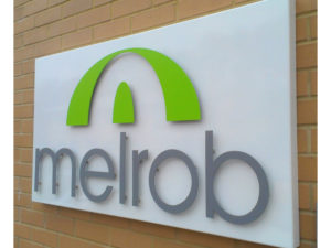 Melrob outdoor sign