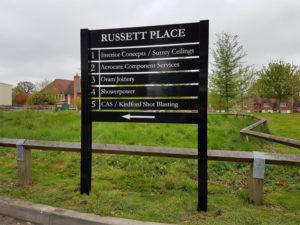 Russett place outdoor sign