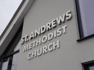St Andrews methodist church outdoor sign